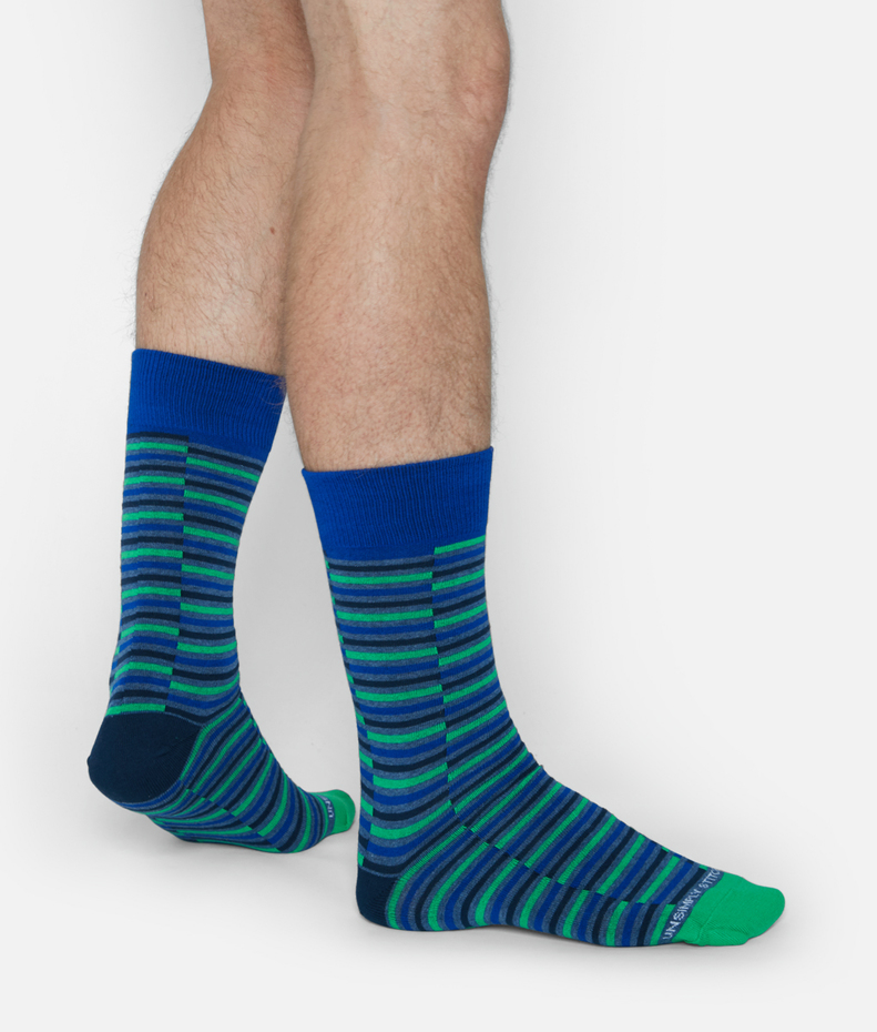Unsimply Stitched Grated Stripe Sock