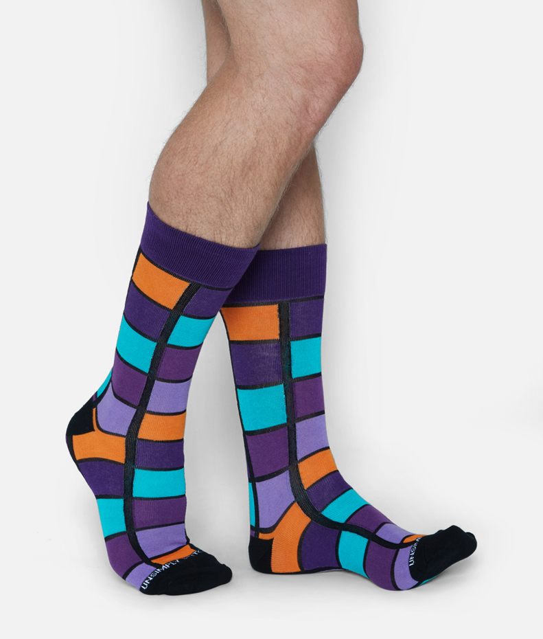 Unsimply Stitched Window Check Sock