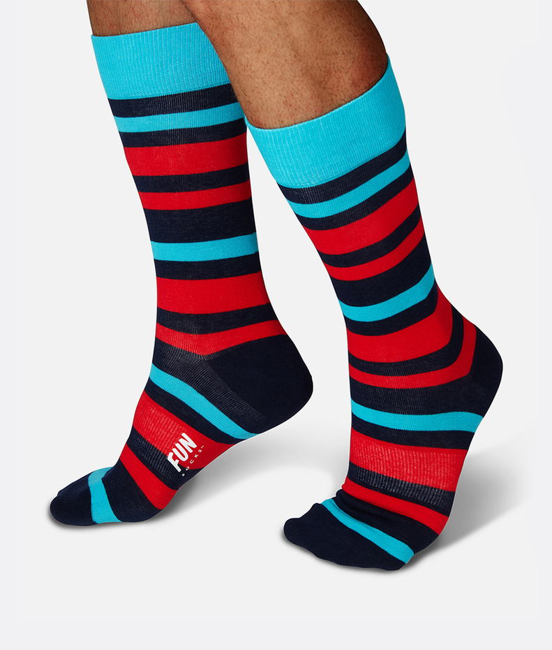 Fun Socks Bold Stripe Sock