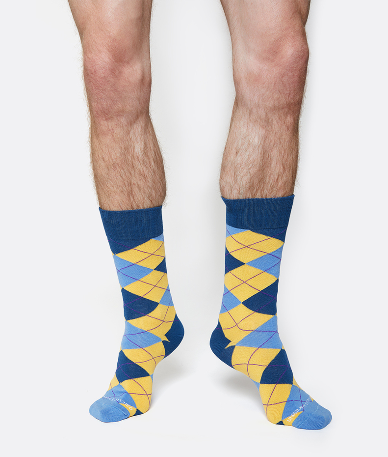 Unsimply Stitched Argyle Sock