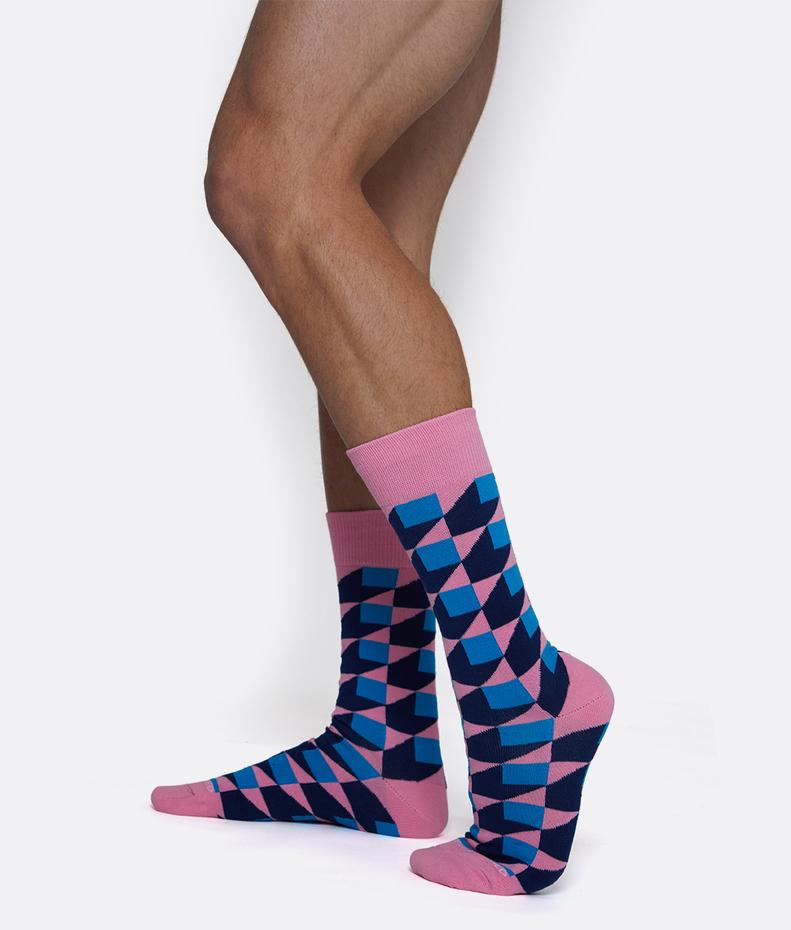 Unsimply Stitched Illusion Box Sock