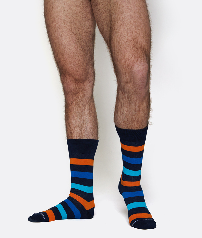 Unsimply Stitched 3 Color Stripe Sock