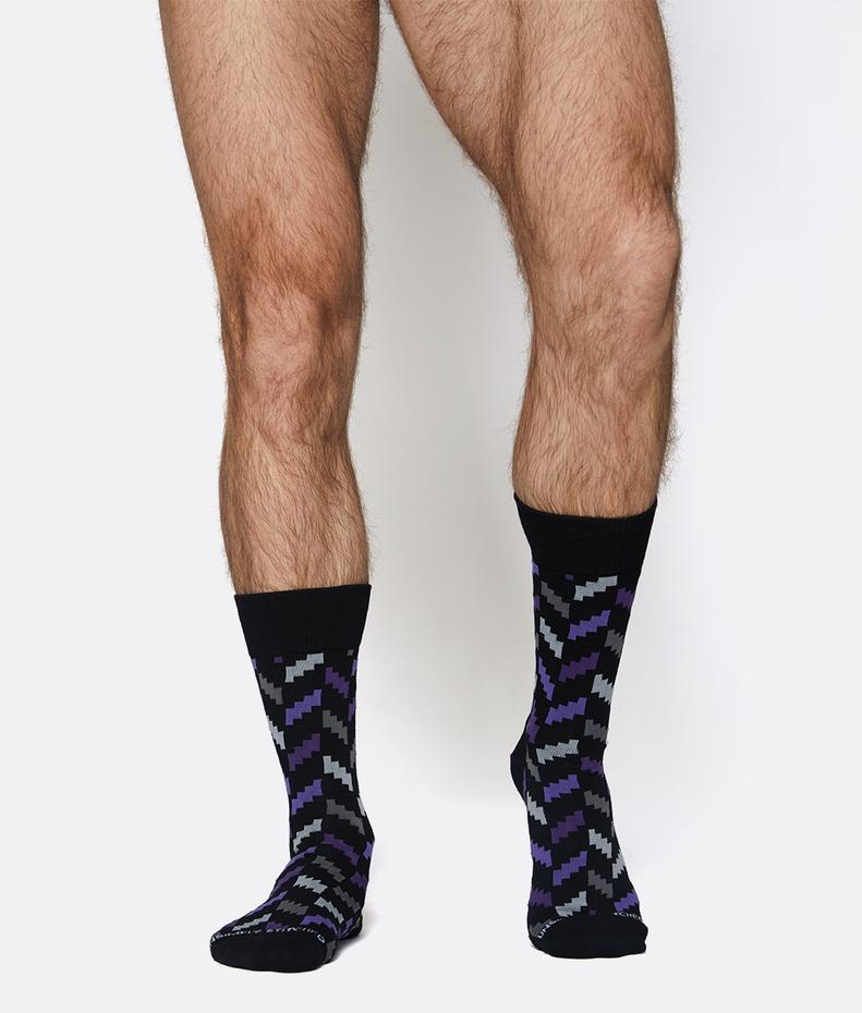 Unsimply Stitched Zig & Zag Sock