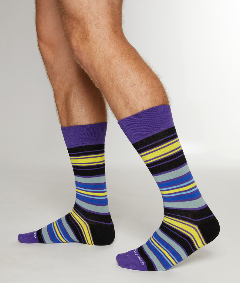 Unsimply Stitched Pigment Stripe Sock