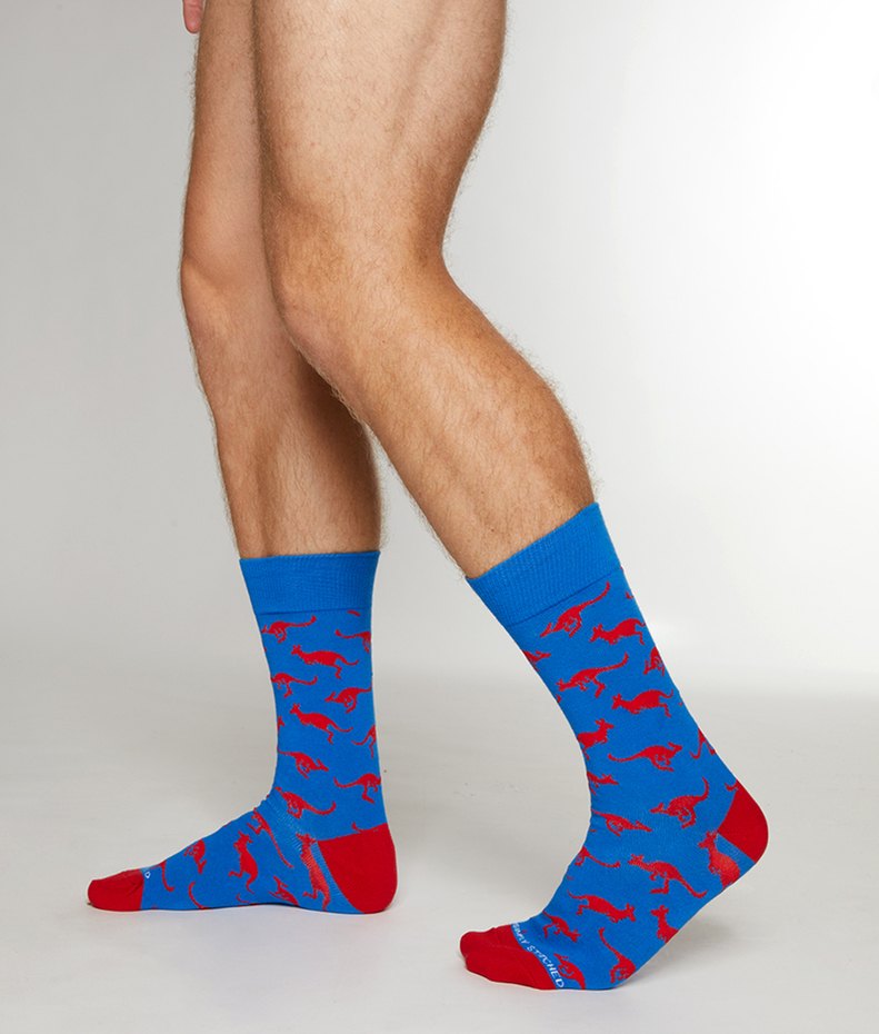 Unsimply Stitched Kangaroos Sock