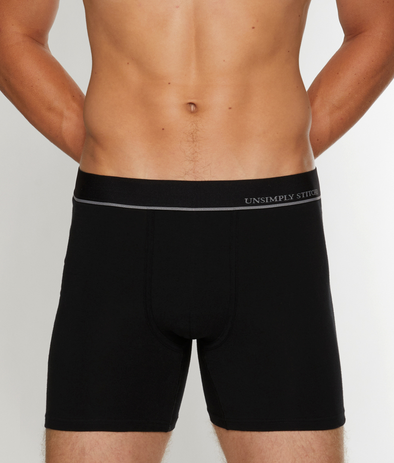 Unsimply Stitched Black Boxer Brief